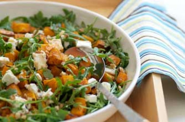 Butternut squash and goat's cheese salad recipe
