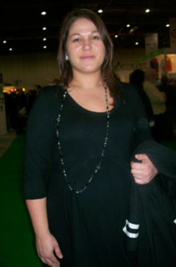 Mum-to-be Lisa at the baby show