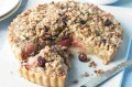 Whole rhubarb crumble tart