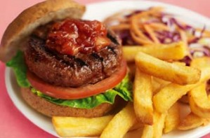 Slimming World's beefburger and wedges recipe