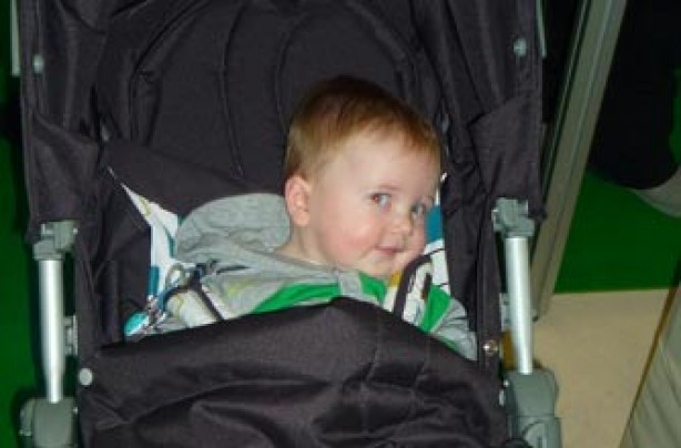 Alison's son Bobby who's 7.5 months old