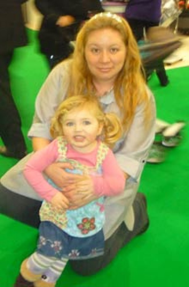 Louise with Charlotte who's 2.5