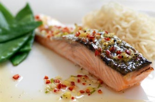 26 ways with salmon fillets - Grilled salmon with ginger, honey and ...
