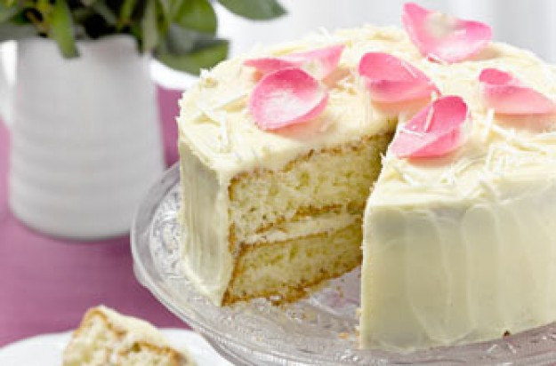 White chocolate gateau