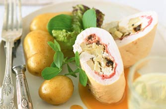 Chicken Roulade Stuffed With Asparagus And Prosciutto Pictures