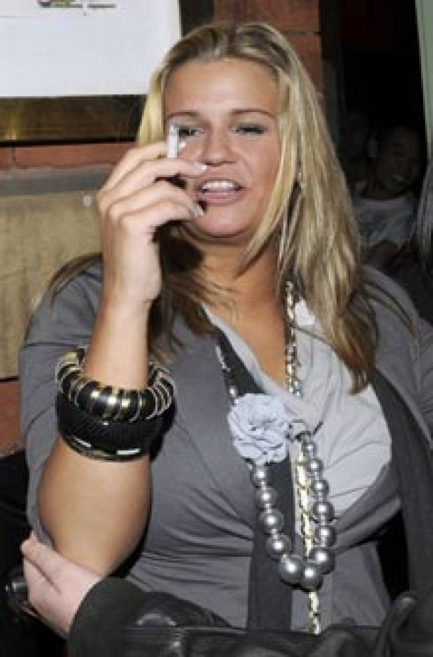 Celebrities smoking - Kerry Katona