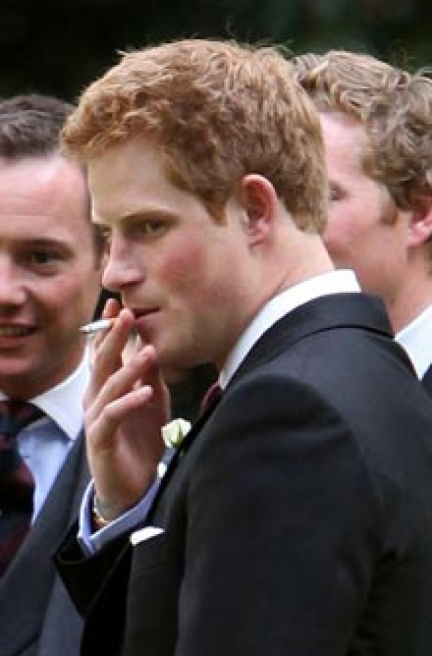 Celebrities smoking - Prince Harry