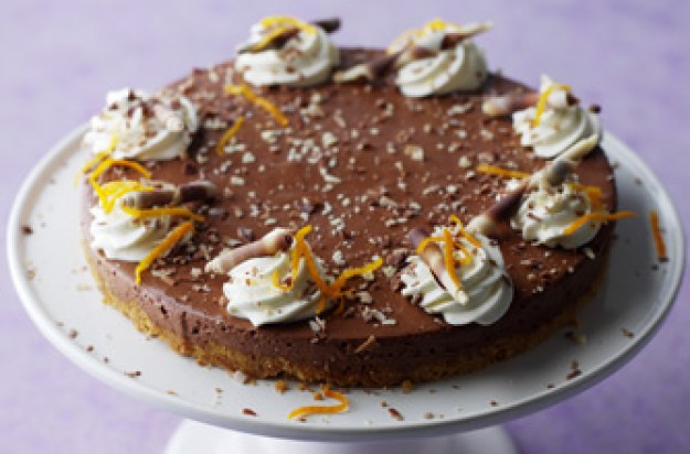 Chocolate and orange cheesecake, recipes