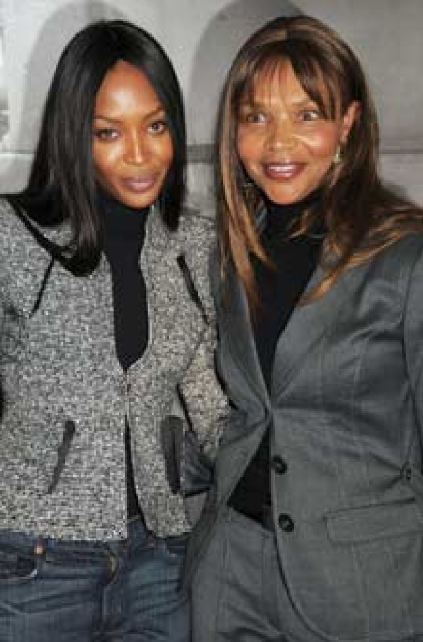Naomi Campbell and Valerie Campbell