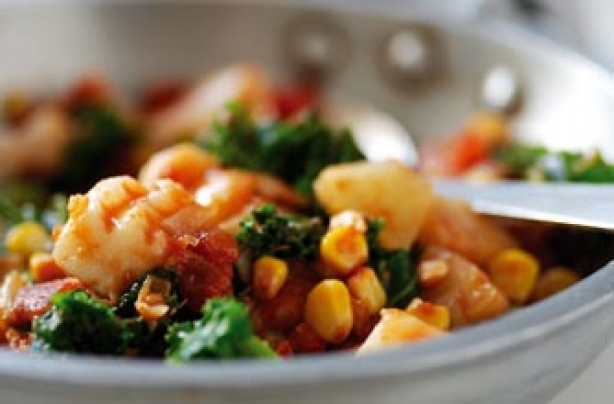 Fish and kale creole recipe