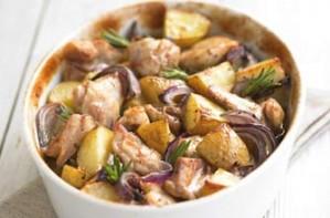 baked chicken, chicken with potatoes, chicken, recipe