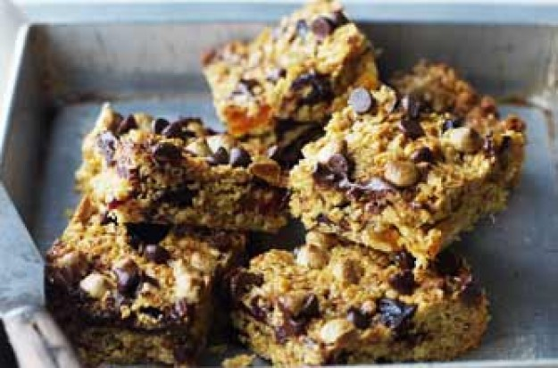 Cherry flapjacks, flapjacks, chocolate flapjacks, fruity flapjacks, apricot flapjacks