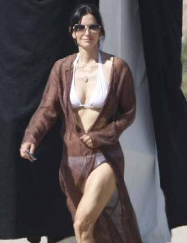 Courteney Cox Arquette in a bikini
