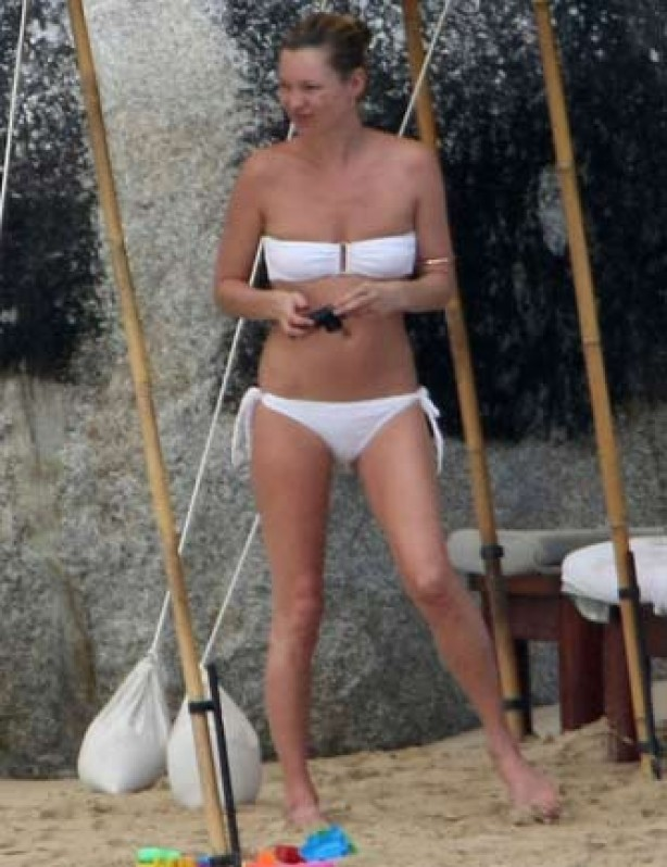 Kate Moss in a bikini