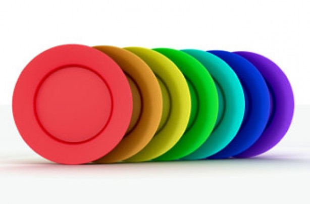 coloured plates