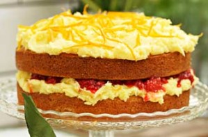 Sophie Dahl's raspberry and orange Victoria sponge with buttercream recipe