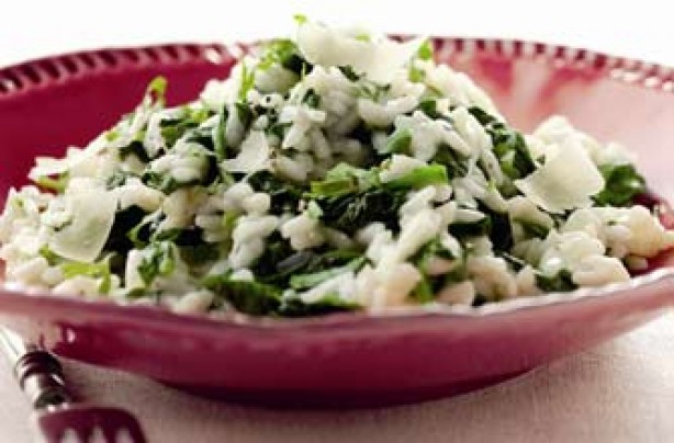 Spinach and parsley risotto