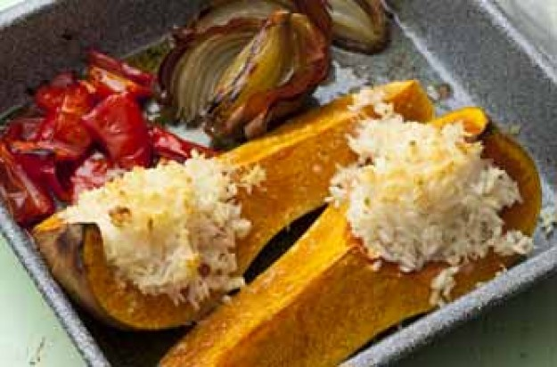Butternut squash bake with risotto rice