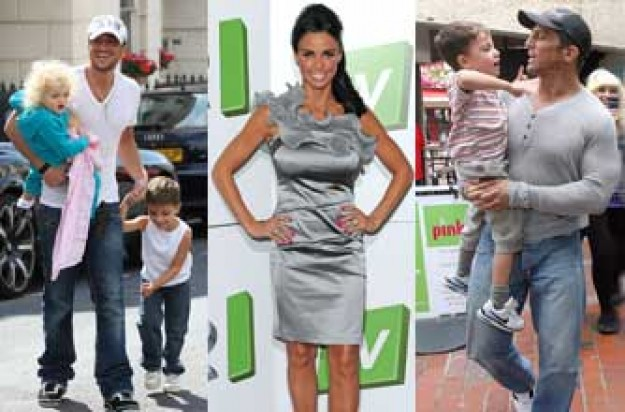 Jordan, Peter Andre and Alex Reid