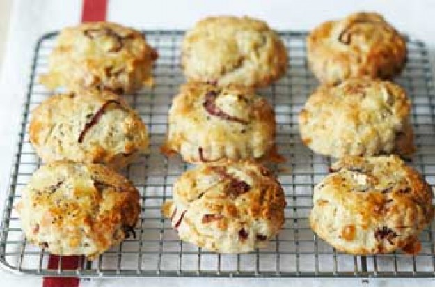 Poppy seed, cheese and onion scones recipe