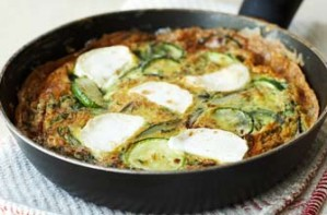Courgette and goats' cheese frittata recipe