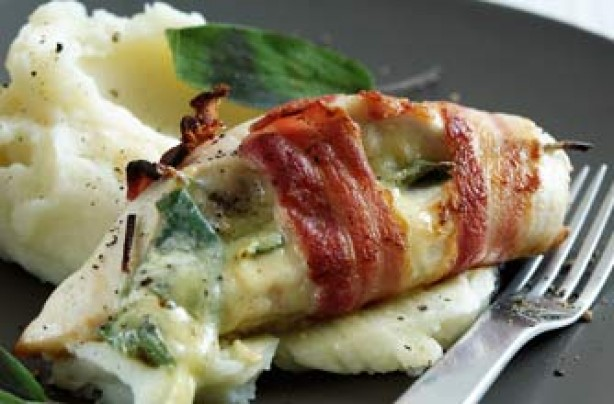 Stilton and sage chicken parcels