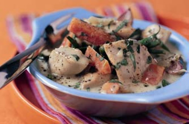 Chicken and tarragon fricassee recipe