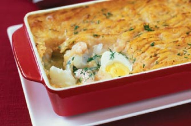 Creamy haddock fish pie