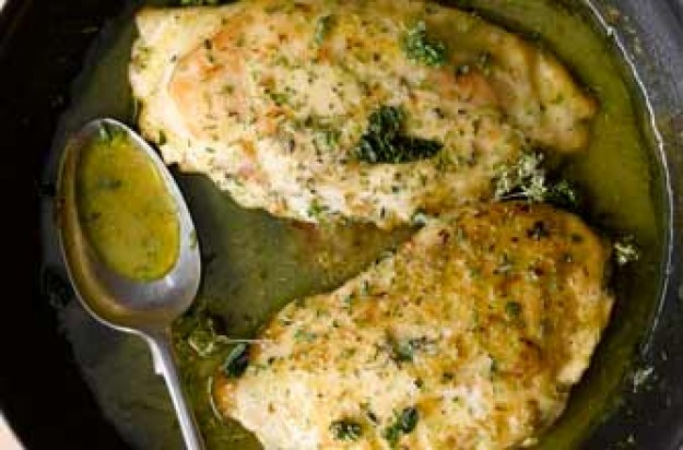 Filled chicken breasts