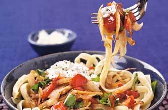 Tagliatelle with fennel, tomatoes and ricotta recipe ...
