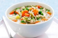 Carrot chicken and barley soup recipe