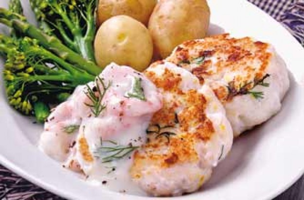 Low calorie fishcakes