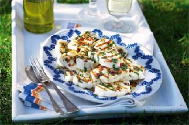 haloumi with chili kick