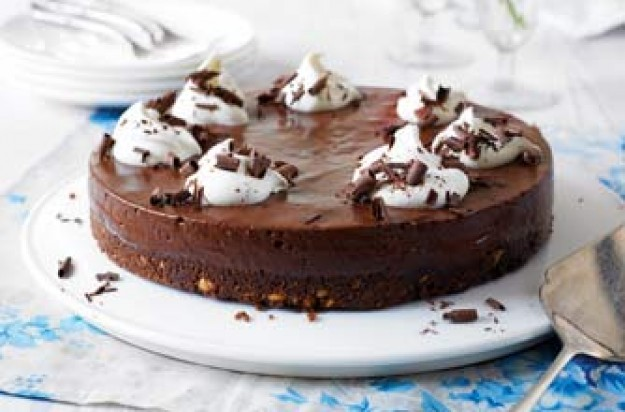 No bake chocoholics dream cake