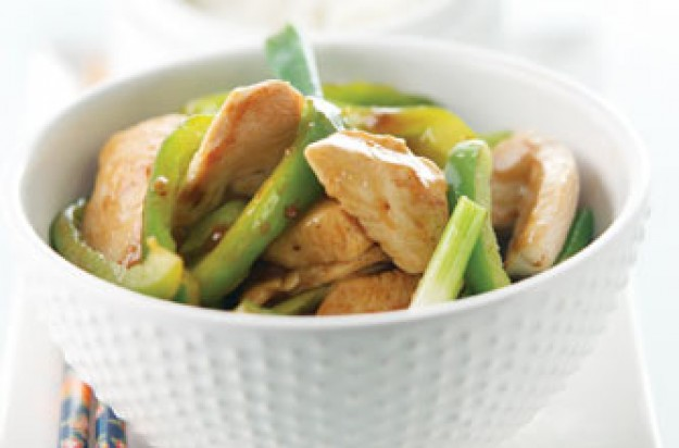 Chicken and spring onion stir-fry recipe