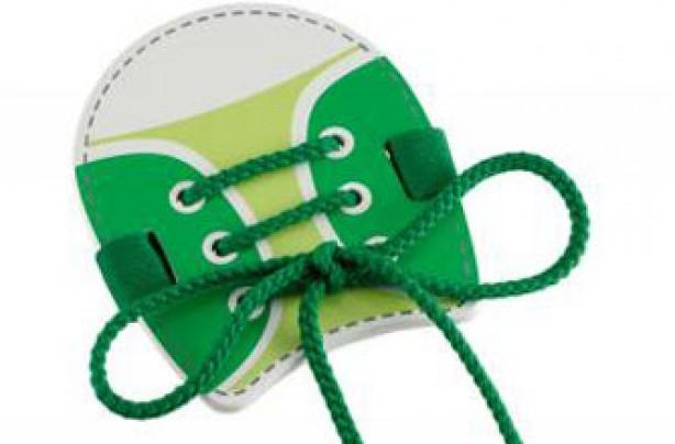 1, 2 Tie My Shoe - Green