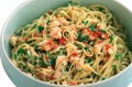 Seafood pasta with crabmeat and chilli