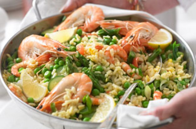 New style seafood paella