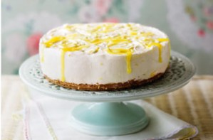 Essentials magazine, no bake lemon cheesecake