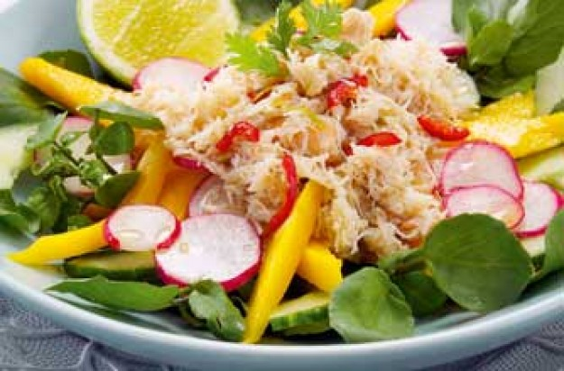 Essentials Magazine Spicy Crab And Mango Salad