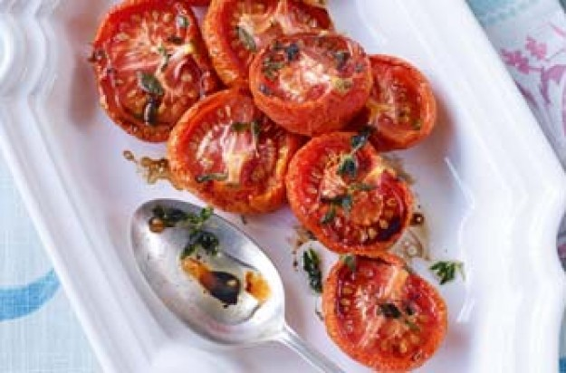 Essentials magazine, slow-roasted balsamic tomatoes