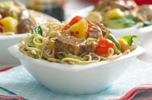 Soy 'n' sesame noodles