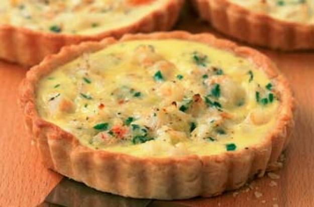 Fish and prawns makes great seafood tartlets. They are cheesy and are suitable for a first course or main meal