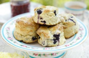Essentials magazine, blueberry scones