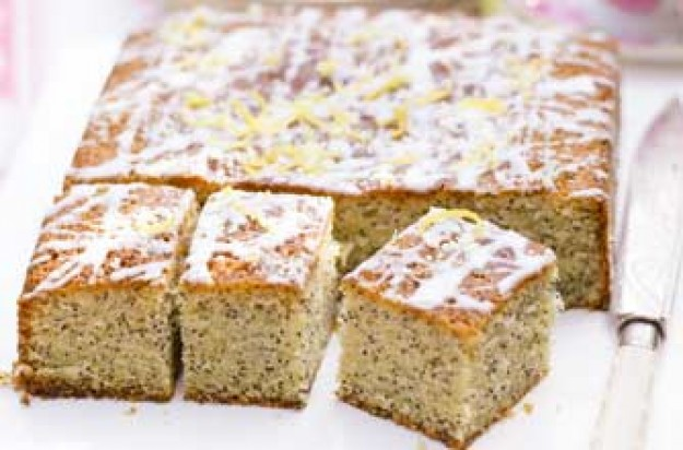Essentials magazine, lemon and poppyseed drizzle cake