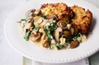 Essentials magazine, mushroom and spinach stroganoff
