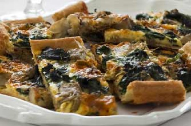 Blue cheese and spinach tart