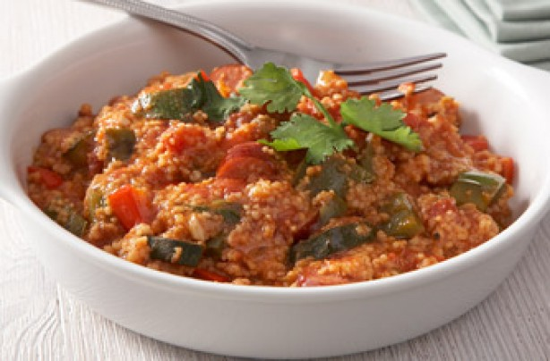 couscous with kabanos