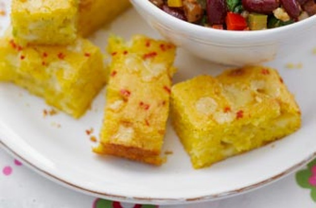 Essentials magazine, cheesy cornbread