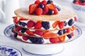 Essentials magazine, berry brandy snap layer cake
